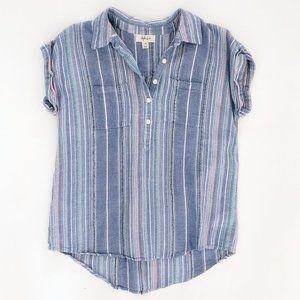 STYLE & CO. Women's Striped Casual Shirt XS